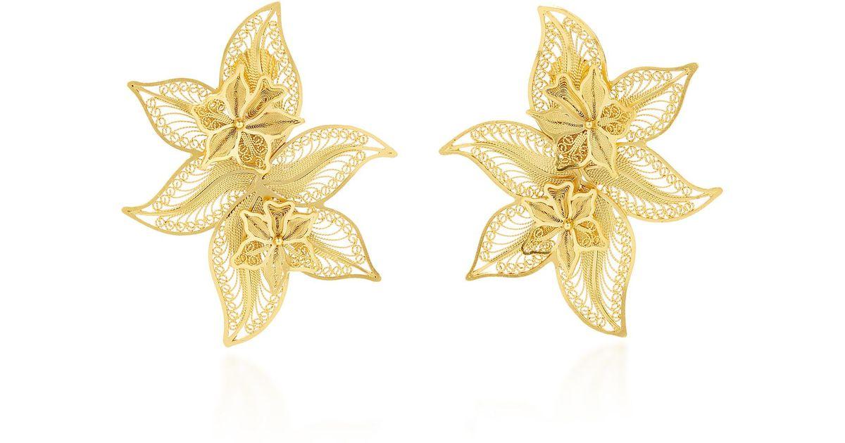 48b714043 Mallarino Oriana Wild Orchid Stud Earrings in Metallic - Lyst