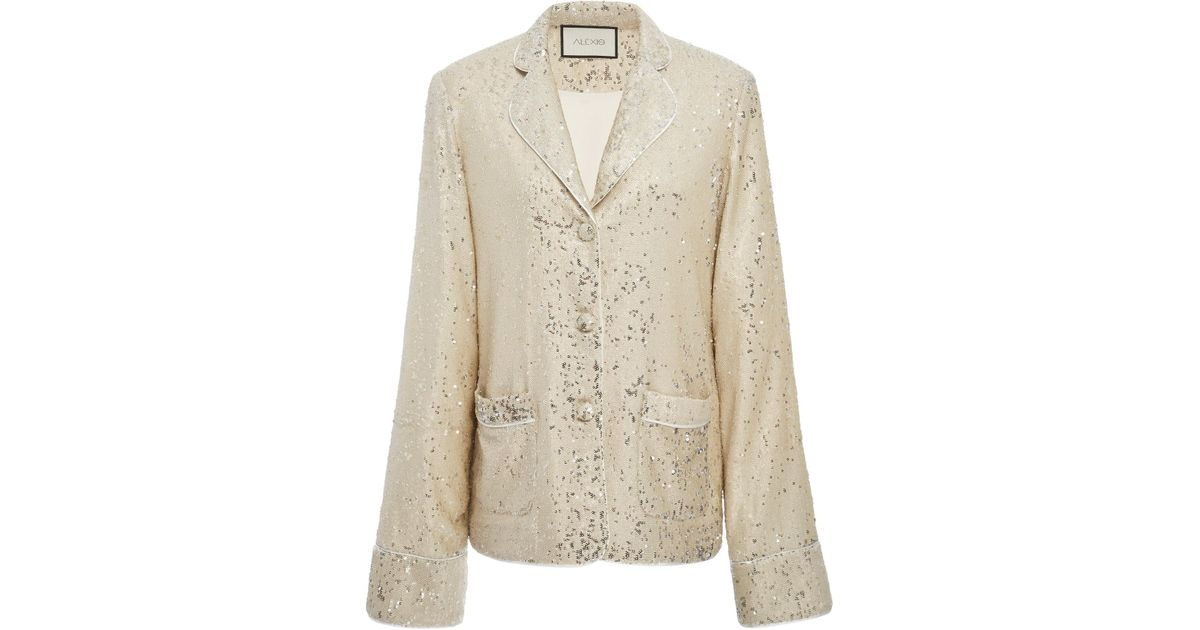 f311abe34f1a Alexis Ripley Sequin Jacket in White - Lyst