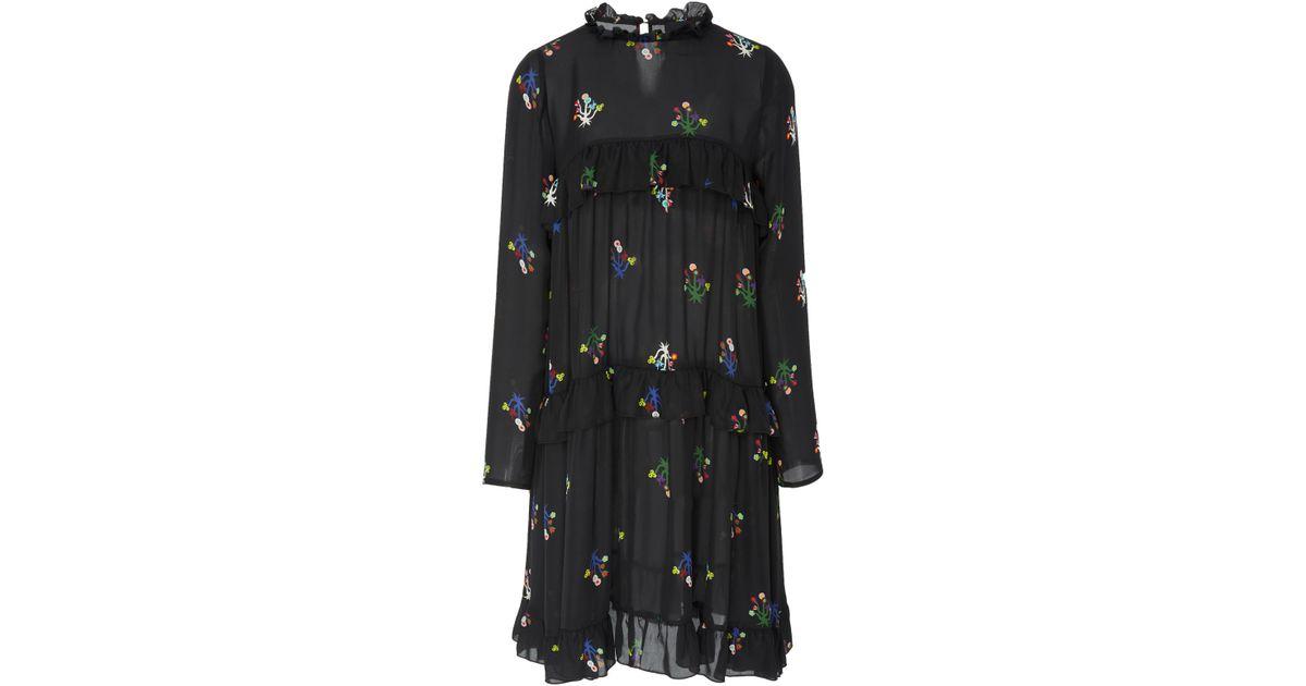 dea63c71992 Lyst - Cynthia Rowley High Tide Tiered Ruffle Dress in Black