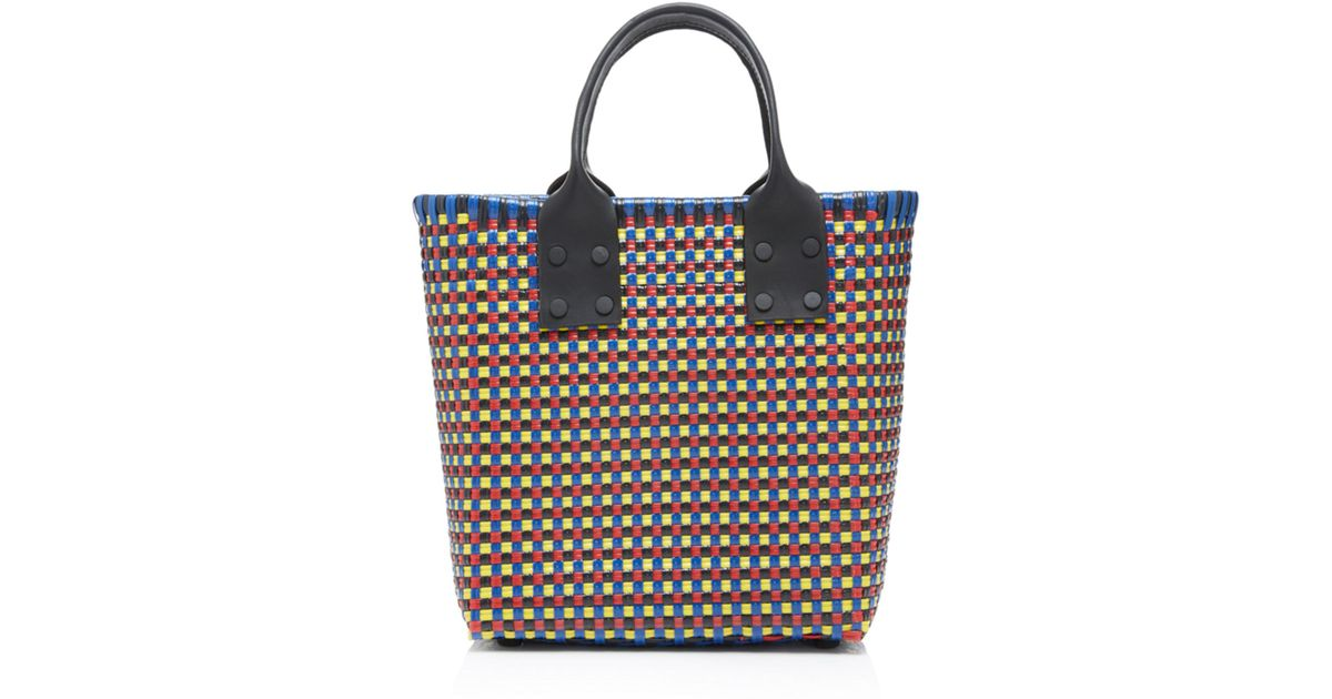 Small Tall Tote With Leather Handles Truss ez0g1