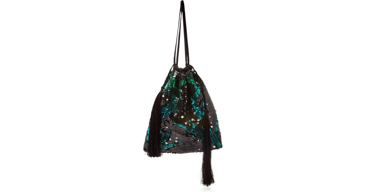 Attico Embellished Drawstring Bag qK3UyvTVU