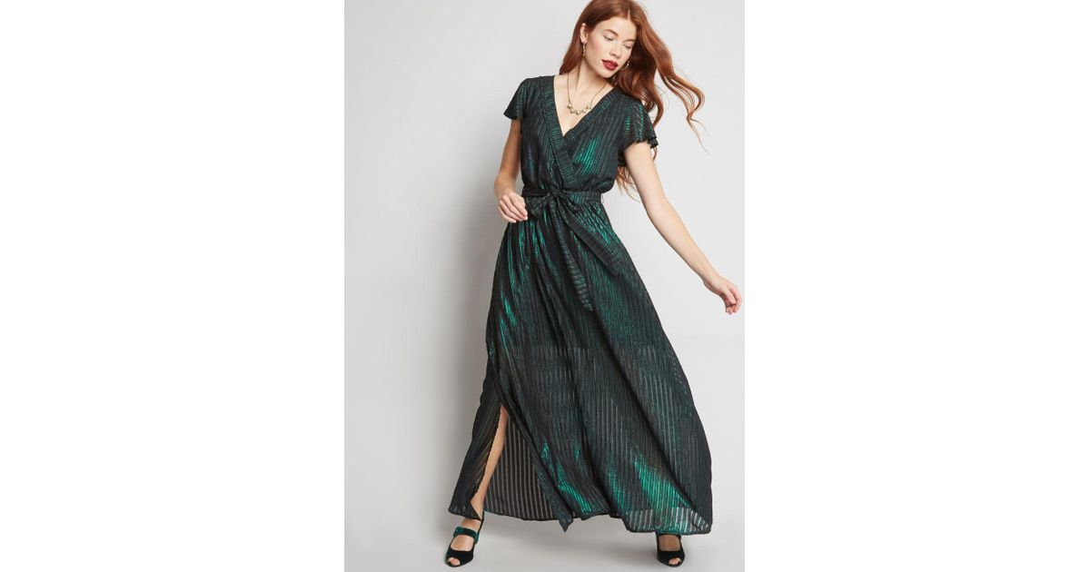 6c2d14745a2 ModCloth Your Time To Shine Maxi Dress in Green - Lyst