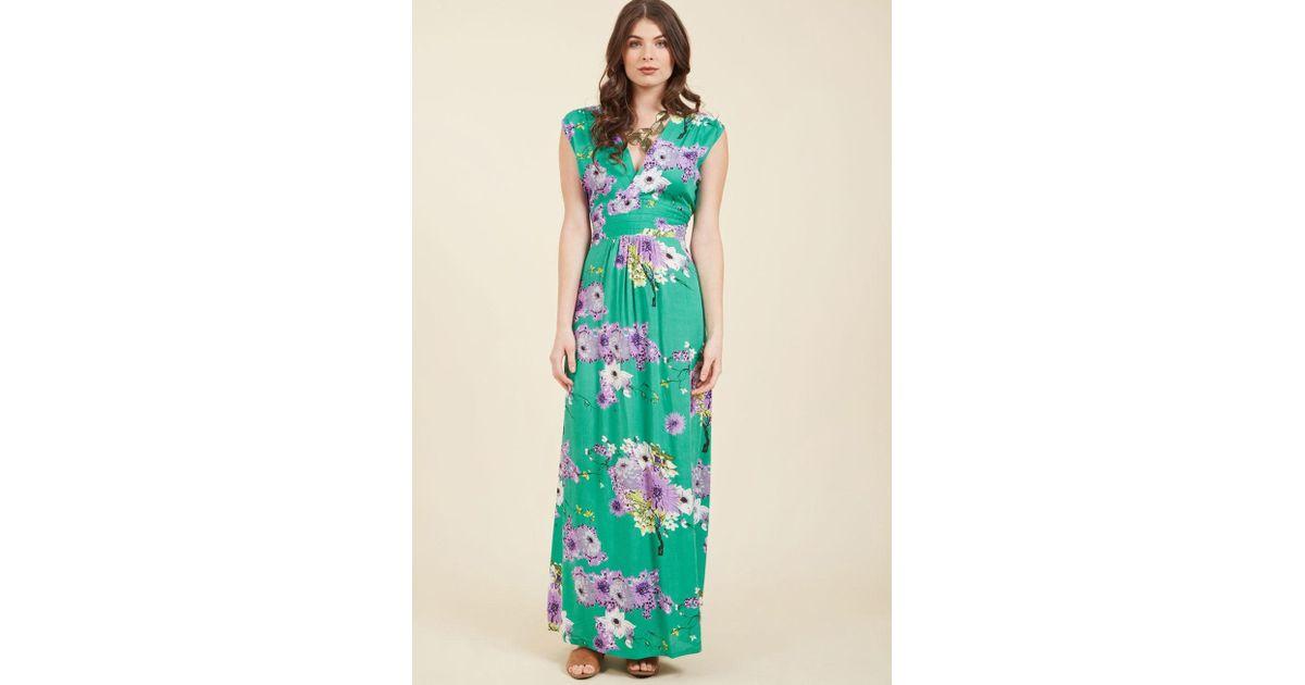 0188d0c817 Lyst - ModCloth Feeling Serene Maxi Dress In Spearmint in Green