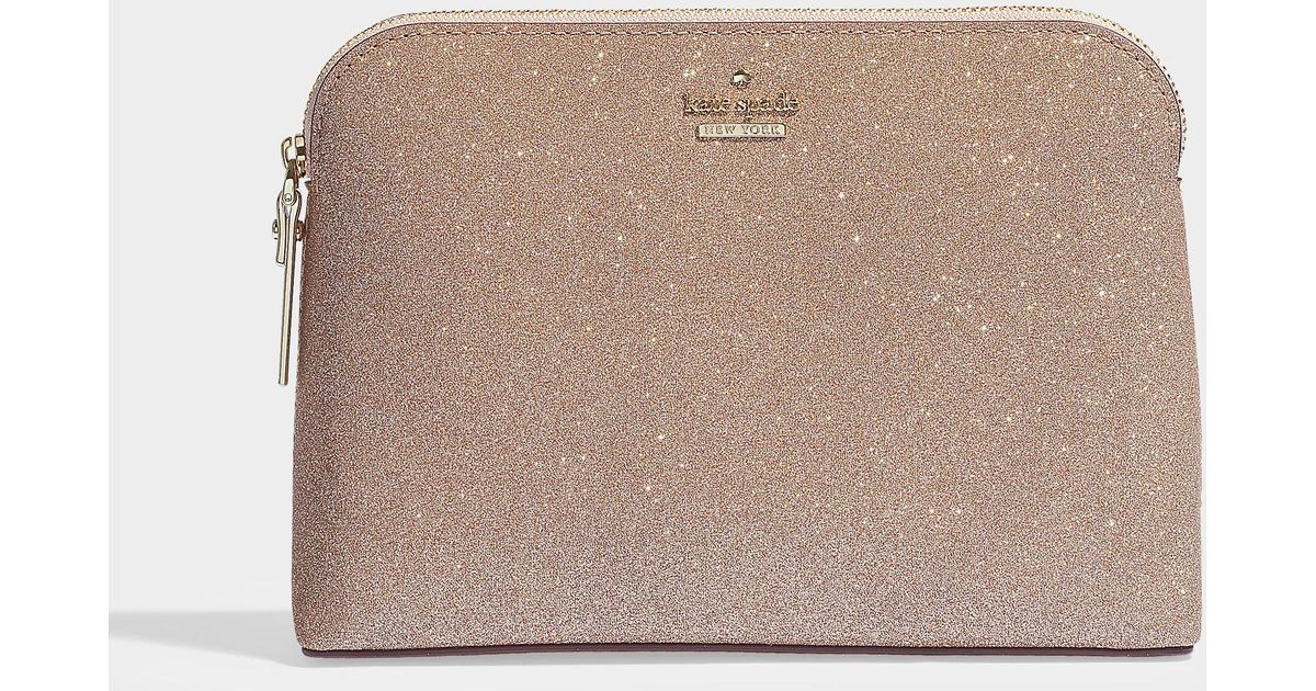190501a73d0 Kate Spade Mikey Burgess Court Wallet In Rose Gold Calfskin in Pink - Lyst