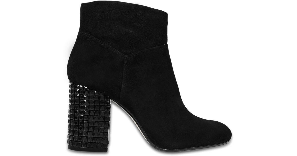 6f08203b6ede2 MICHAEL Michael Kors Black Arabella Ankle Boots With Embellished Heel
