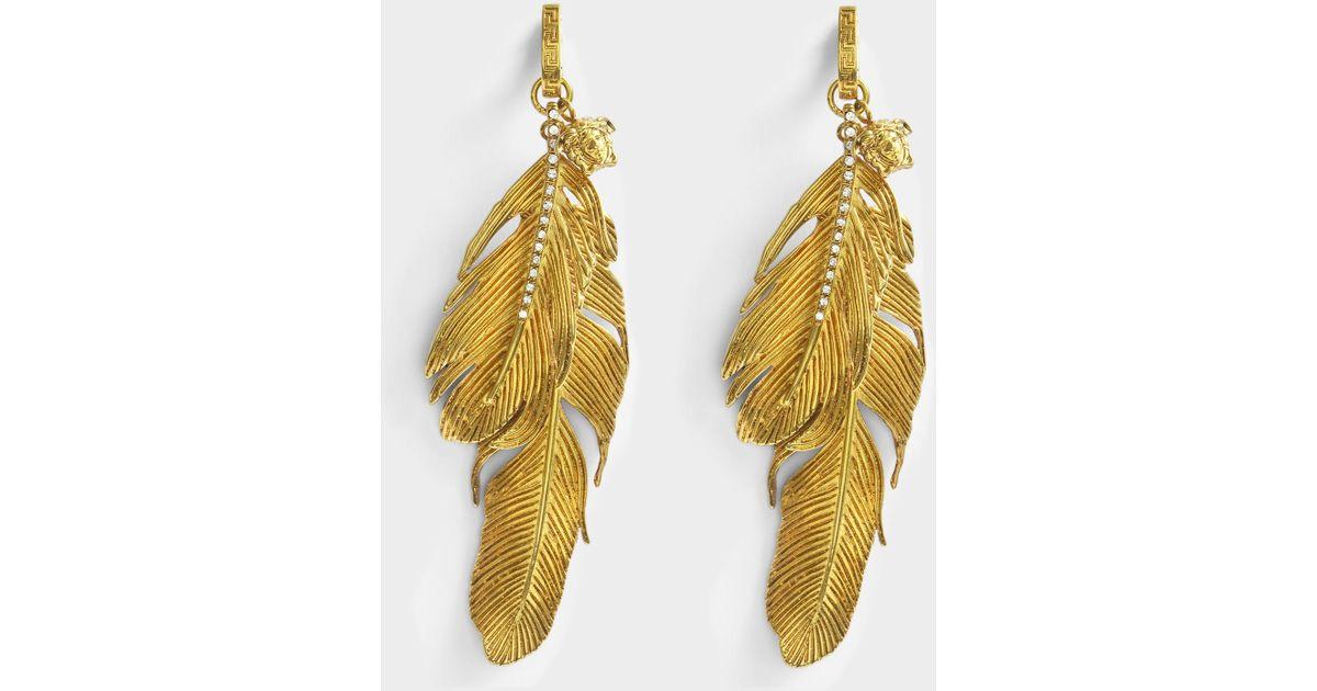 54e4c4a6e Versace Tribute Native American Earrings In Gold Brass in Metallic - Lyst