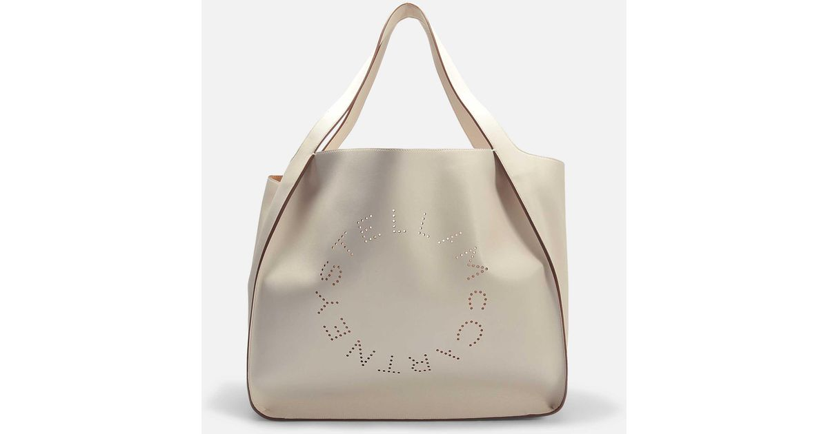 Alter Nappa Stella Logo Tote Bag in Pecan Eco Fabric Stella McCartney x5GKOR