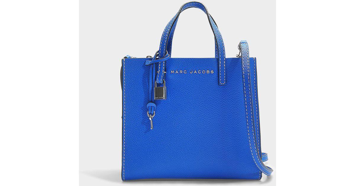 Sac à main the mini grind en cuir de veau bleu Marc Jacobs en coloris Blue