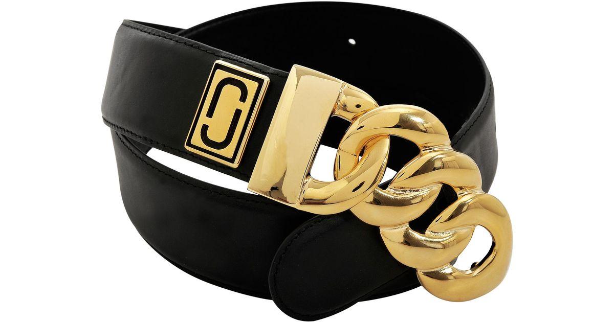 Marc Jacobs - Black Double J Plaque Belt - Lyst