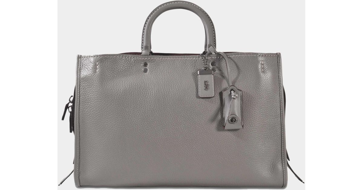 7da0408ee COACH Glovetanned Pebble Leather Rogue 39 in Gray - Lyst