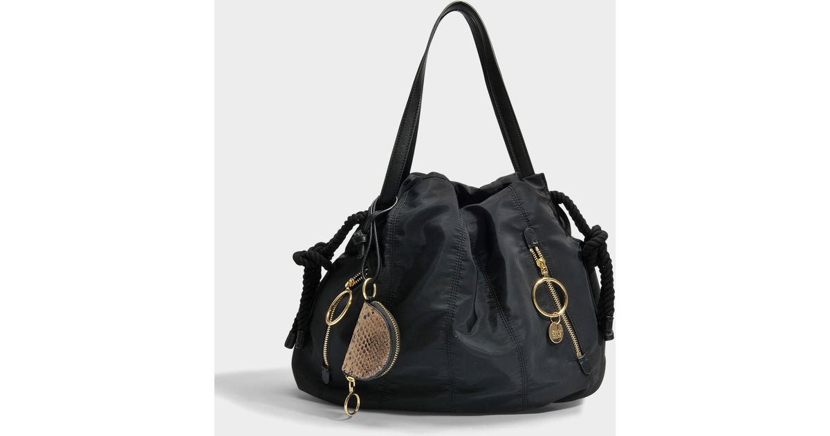 6474887715 See By Chloé Black Flo Small Shoulder Bag