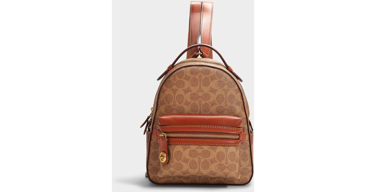 34c29f451f202 Lyst - COACH Campus Backpack 23 In Rust Brown Canvas in Brown