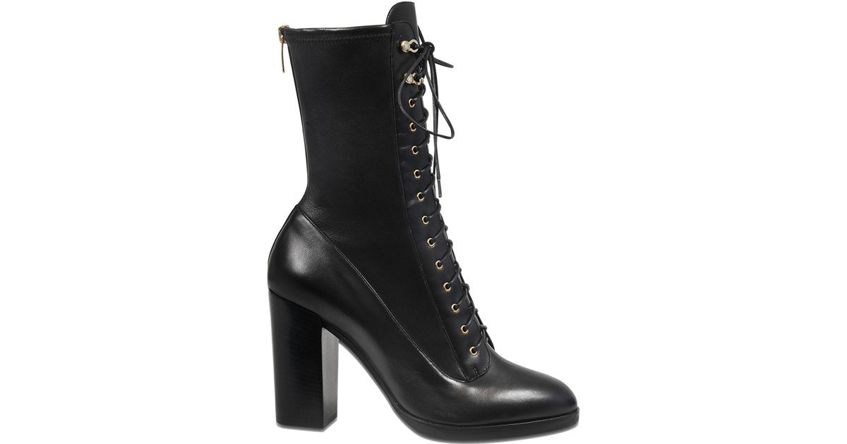 Sergio Rossi Leather Changeling Lace Up