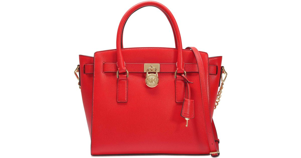 Michael Michael Kors Grand Sac Cabas Mercer Convertible en Cuir Grainé Rose