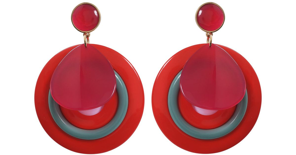Giorgio Armani Plexi Earrings in Red Acetate EV2UB7