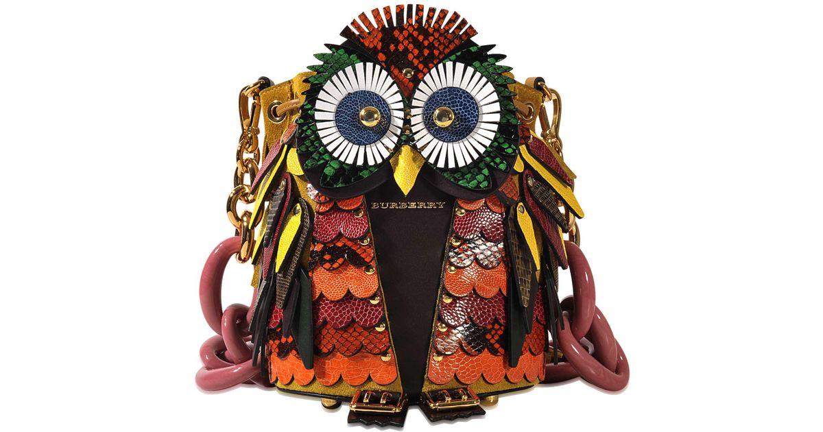 3d Beasts Coloris Burberry Owl Sac Multicolor En HIWD9bE2eY
