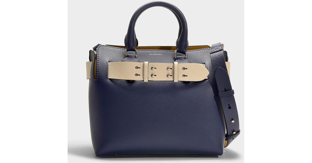 cb74703cad71 Burberry The Small Belt Bag In Regency Blue Calfskin in Blue - Lyst