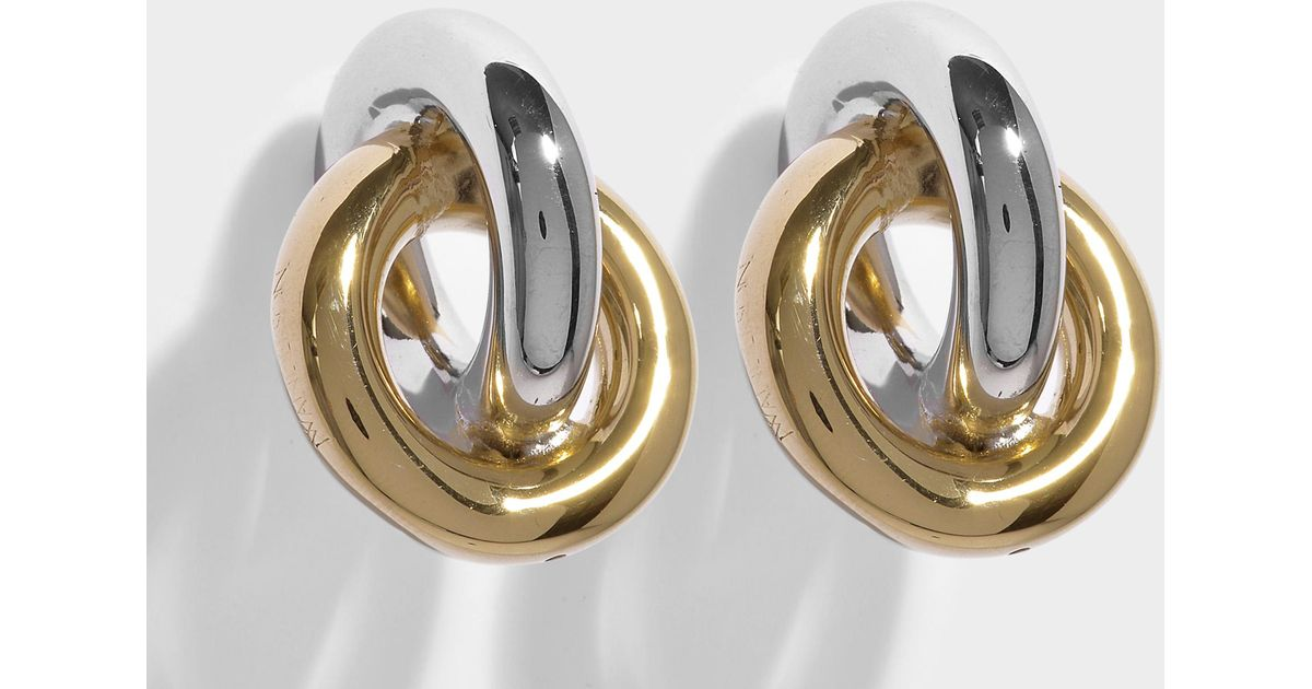 J.W.Anderson Double Earrings in Silver and Gold Eco Brass 3s1A8p5jB