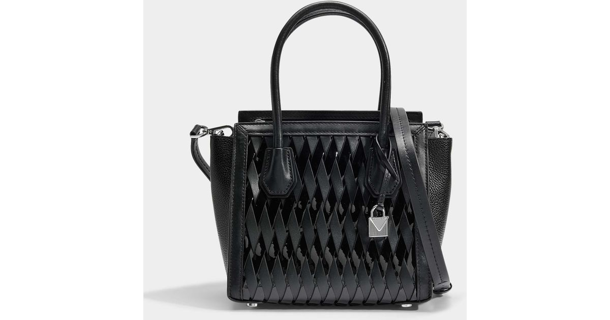 1a3b8bc75 Sac mercer studio medium messenger en cuir tressé noir MICHAEL Michael Kors  en coloris Black