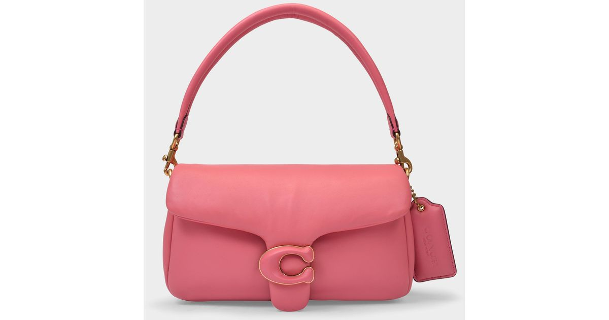 COACH Tabby Pillow Bag In Taffy Pink Leather