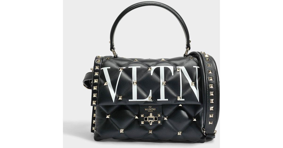 design de qualité d9eea 3af99 Valentino Black Sac À Main Candy Lock