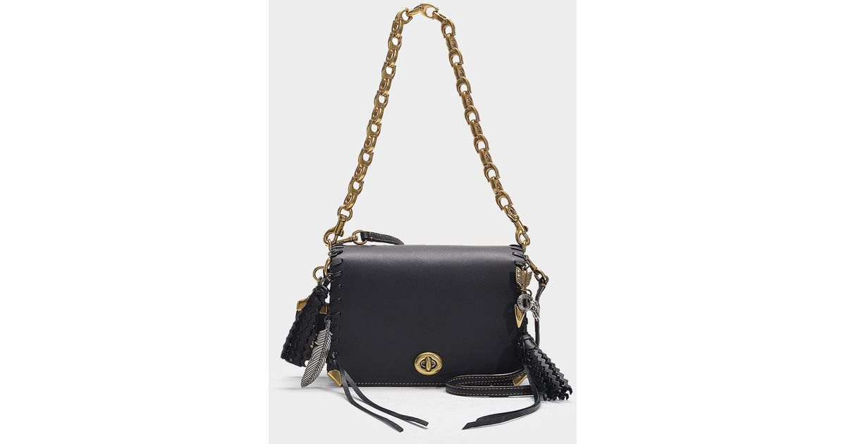 124cf36f COACH Dinky 19 Charms Bag With Leather Strap In Multicolor Black Calfskin