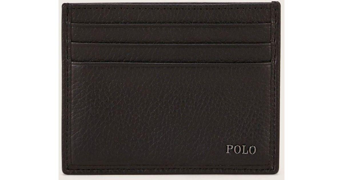 Lyst polo ralph lauren business card holder in black for men reheart Images