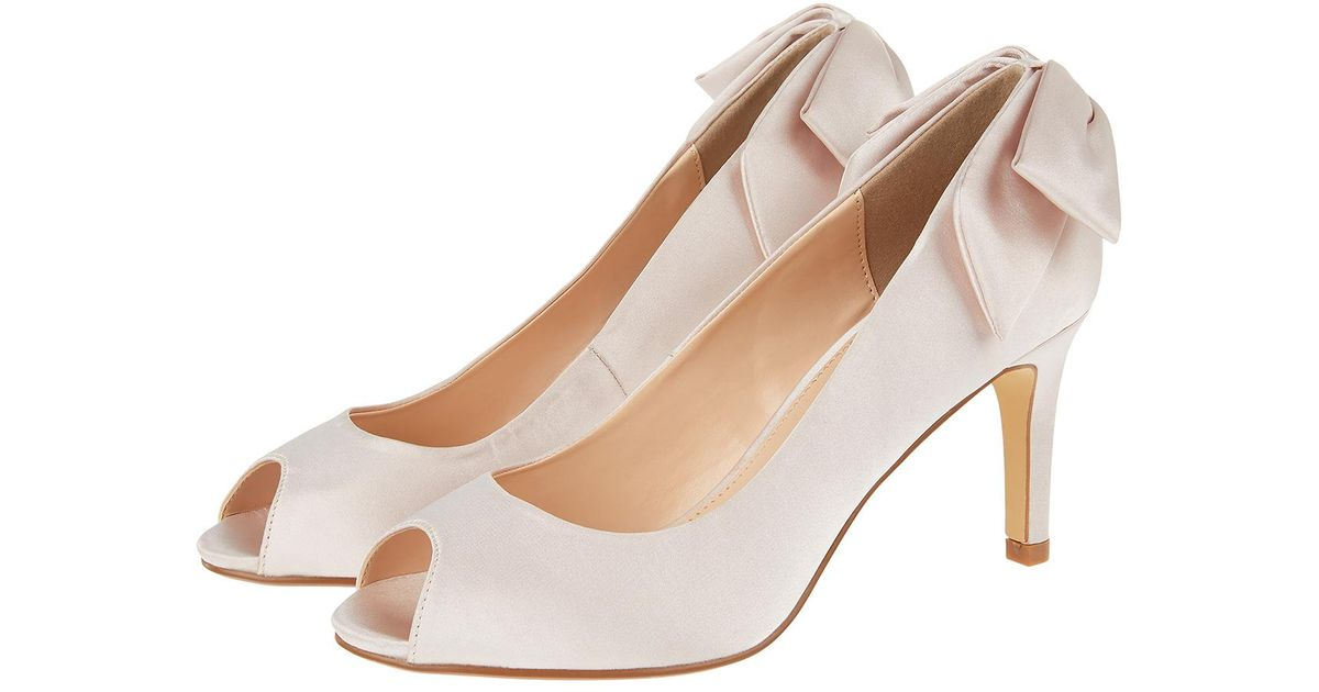 bc060556b77 Monsoon Miriam Bow Back Peep Toe Heels - Lyst