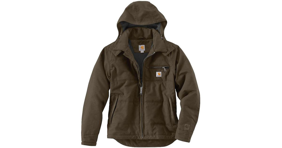 new products great look cost charm Carhartt Brown Quick Duck Livingston Jacket for men