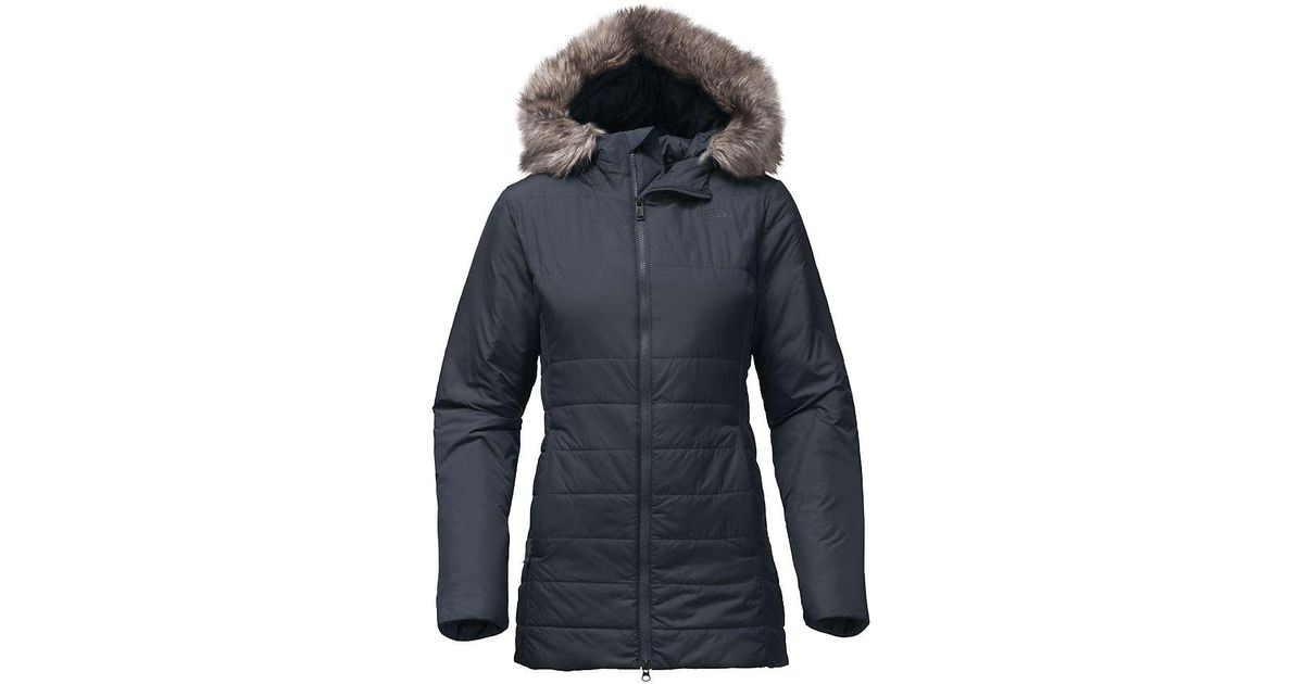 0f1258542 The North Face Blue Harway Insulated Parka