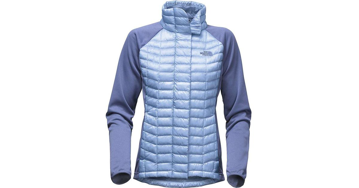 Lyst - The North Face Thermoball Hybrid Full Zip Jacket in Blue dcd5af982