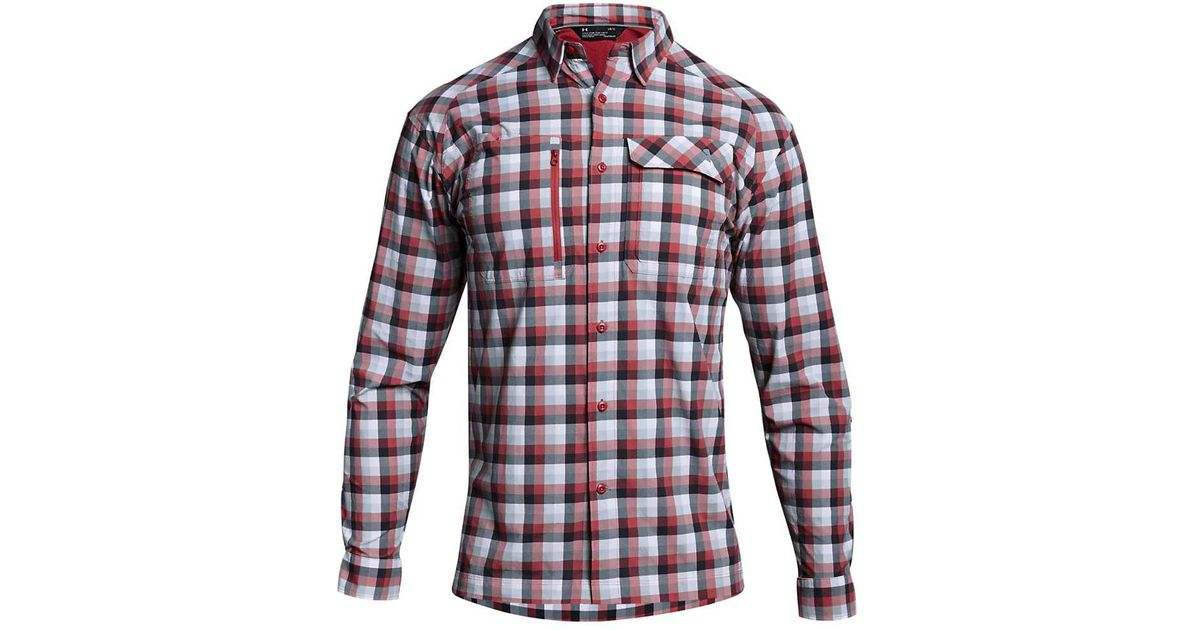53a958023c Under Armour Red Ua Fish Hunter Ls Plaid Shirt for men