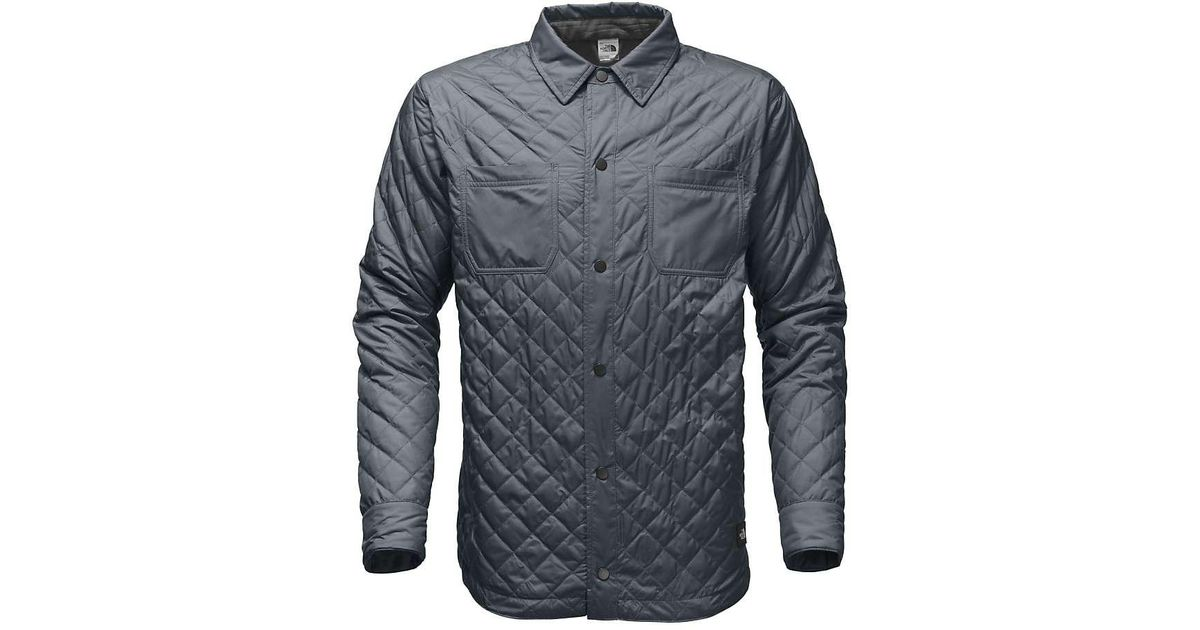 8374a3500 The North Face Gray Fort Point Insulated Flannel Jacket for men