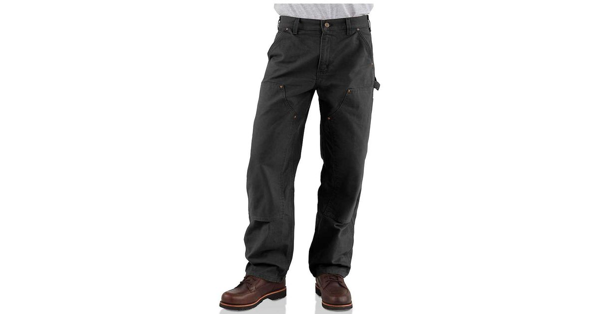 8a200549625e Lyst - Carhartt Washed Duck Double Front Work Dungaree Pant in Black for Men