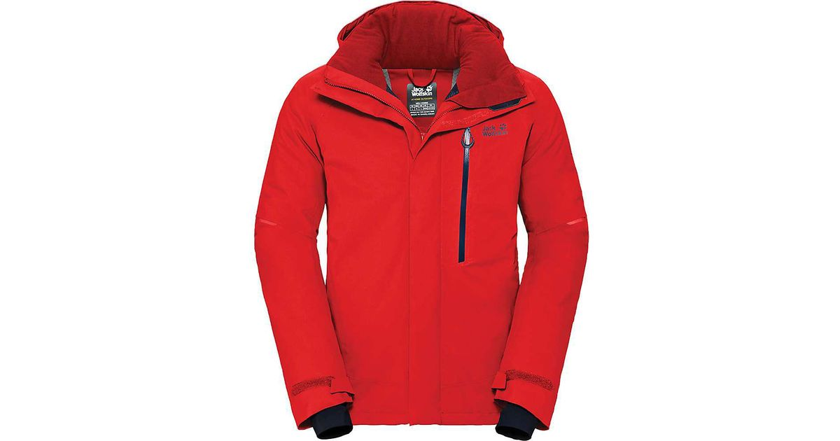 ab81e50fd7 Lyst - Jack Wolfskin Exolight Icy Jacket in Red for Men