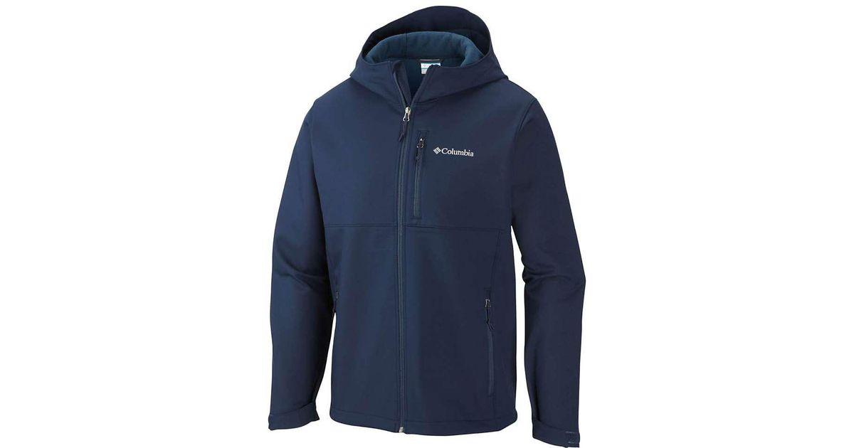 485e1027e88d Lyst - Columbia Ascender Hooded Softshell Jacket in Blue for Men