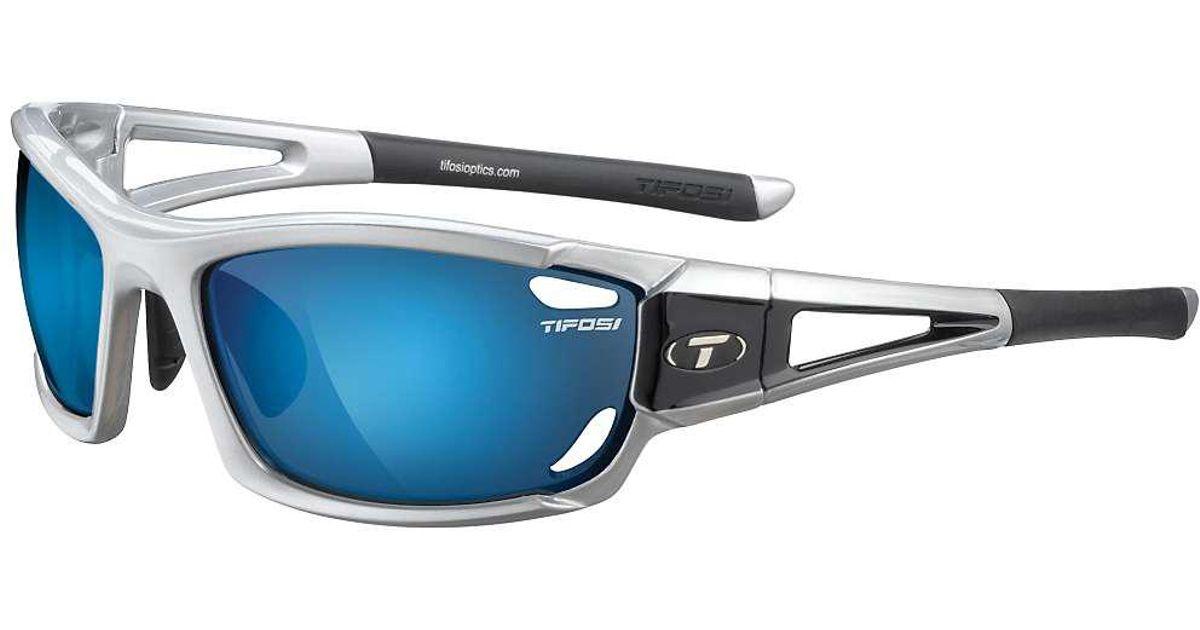 Tifosi SEEK FC Metallic Silver Smoke Blue Sunglasses