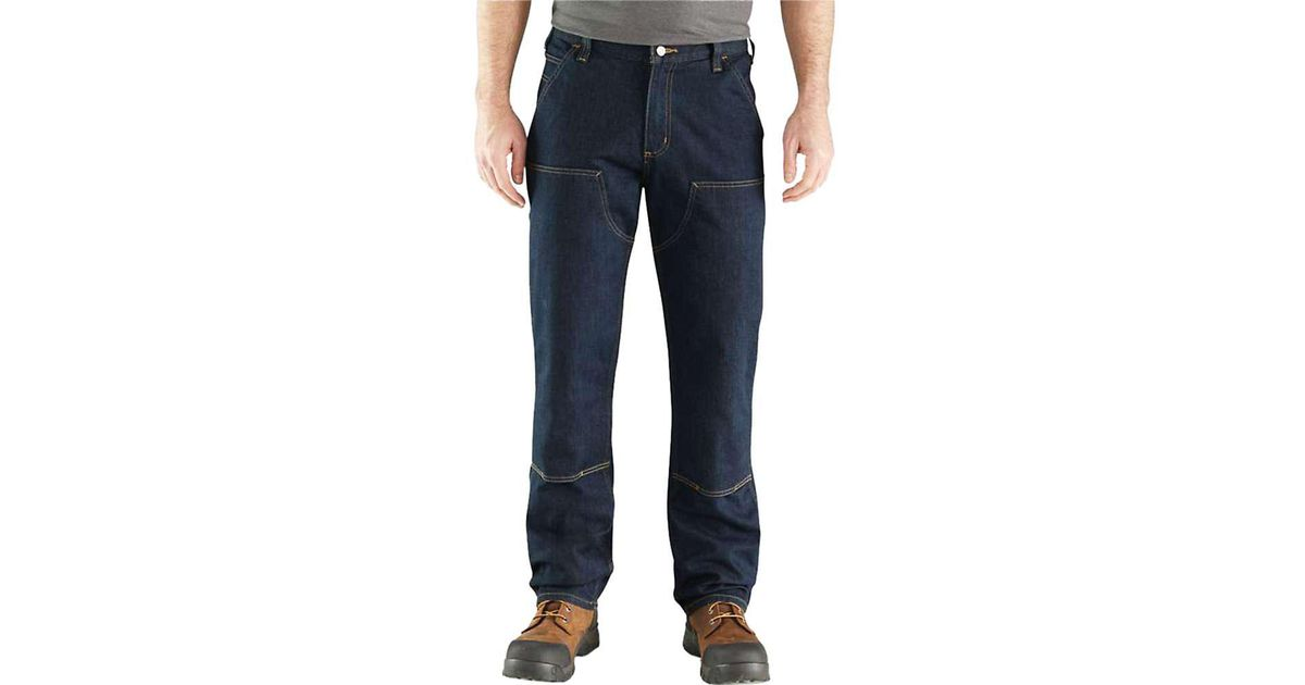 0de5cb82 Carhartt Rugged Flex Relaxed Double Front Jean in Blue for Men - Save 41% -  Lyst