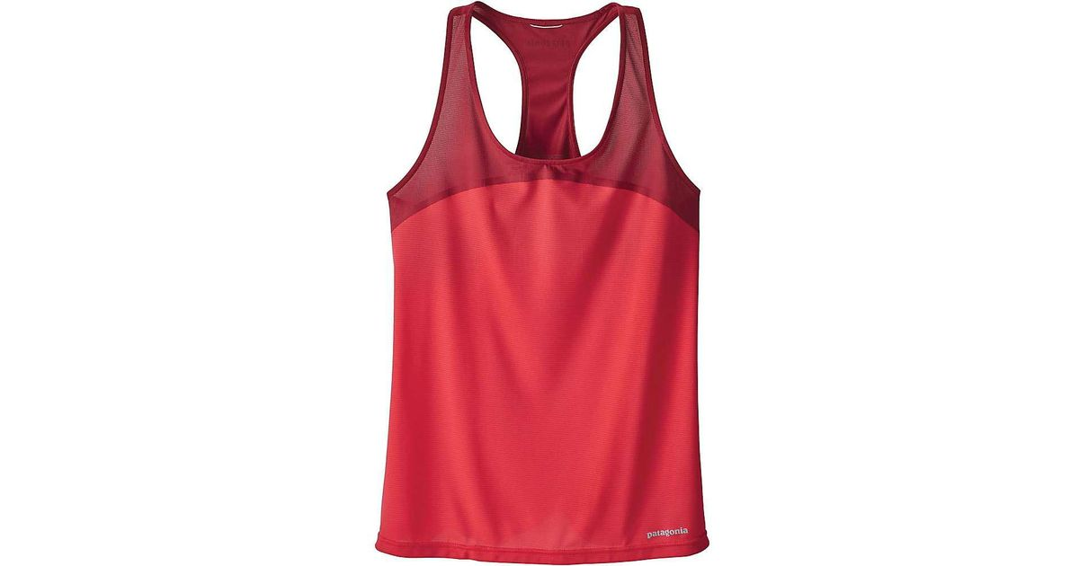 8ed5ffc3556fd3 Lyst - Patagonia Windchaser Sleeveless Tank in Red
