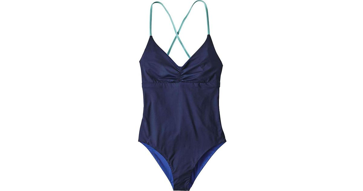 f4e8c61be749f Lyst - Patagonia Reversible One Piece Kupala Swimsuit in Blue