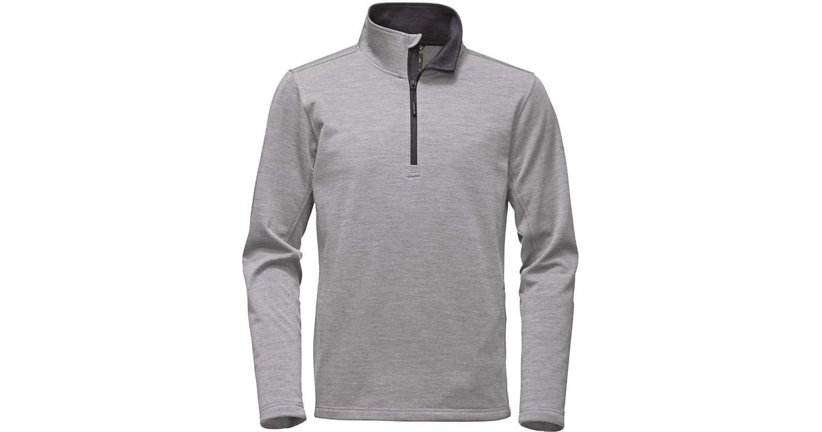 dfbac5093 The North Face Gray Flashdry Wool 1/4 Zip Top for men