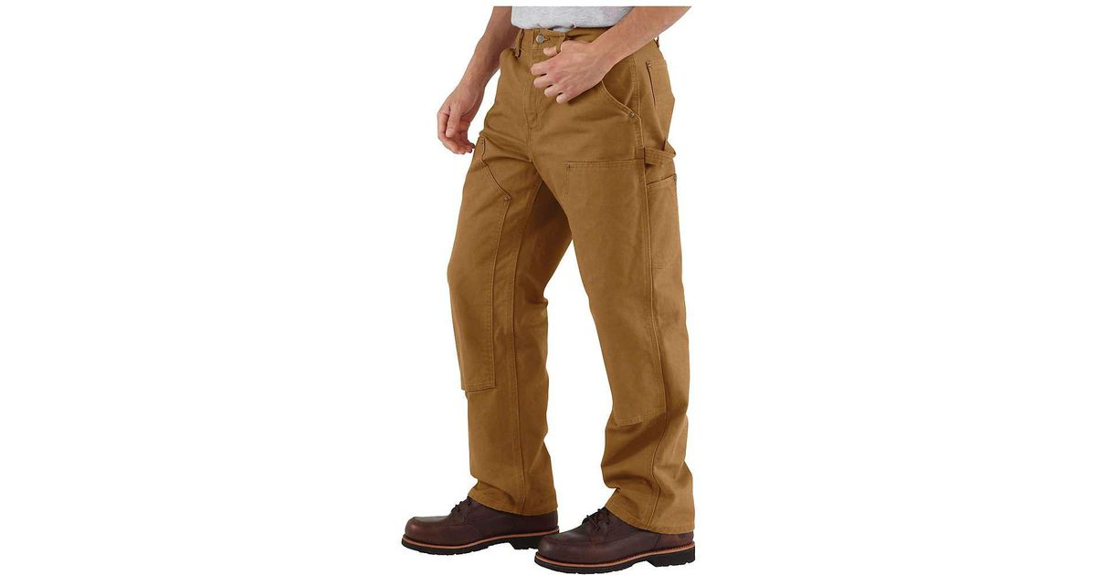 4dd70c12bee0 Lyst - Carhartt Washed Duck Double Front Work Dungaree Pant in Brown for Men