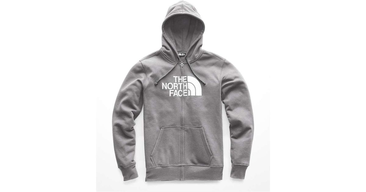 a5df0e792 The North Face - Gray Half Dome Full Zip Hoodie for Men - Lyst