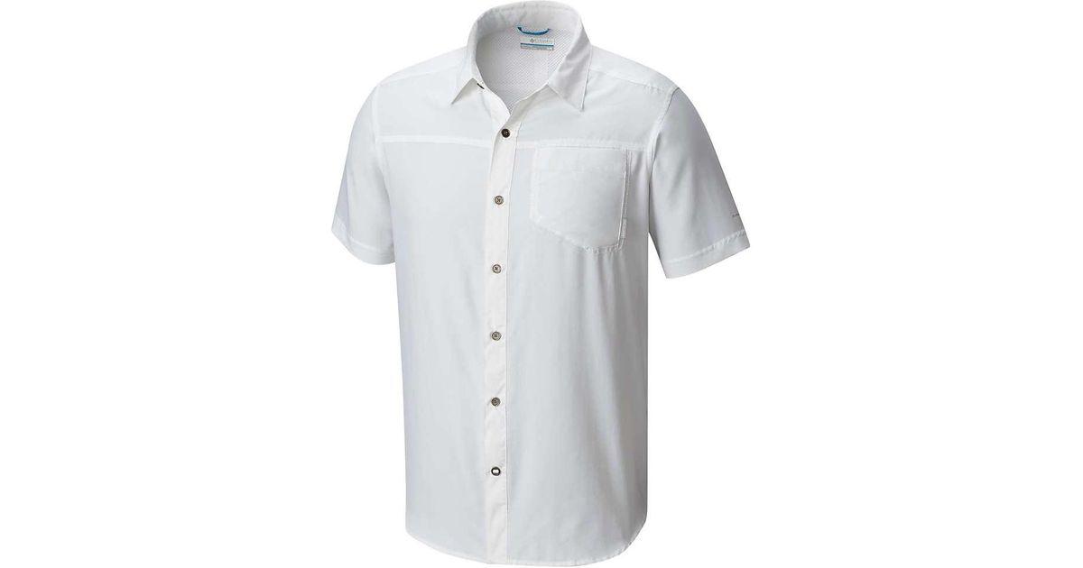 ab4e93391dd Lyst - Columbia Pilsner Peak Ii Ss Shirt in White for Men
