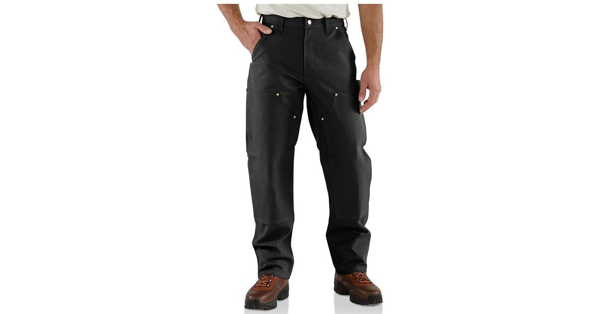 6d649c673454 Lyst - Carhartt Firm Duck Double-front Work Dungarees in Black for Men -  Save 41%