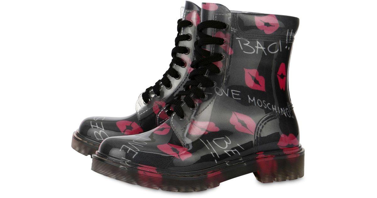 b02eebfb50c4 Botas De Lluvia Baci Baci Love Moschino de color Black