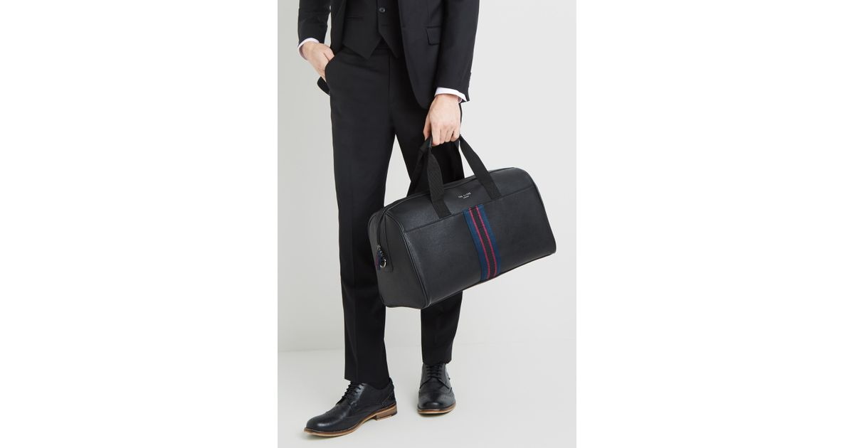 d51a564975 Ted Baker Yours Webbing Holdall (black) Duffel Bags in Black for Men - Lyst