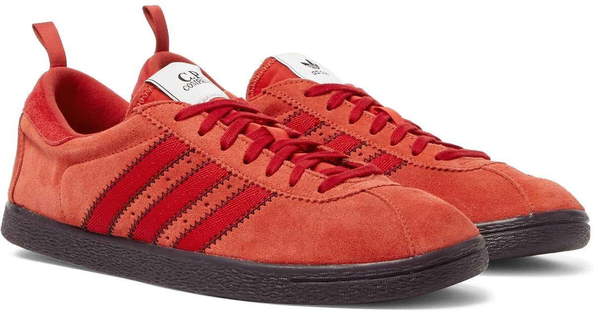 1994a44508d Adidas Originals Red + C.p. Company Tobacco Suede Sneakers for men