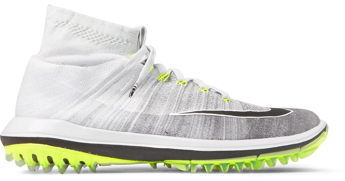 a5f1c88fafa1 Nike - Gray Flyknit Elite Golf Shoes for Men - Lyst