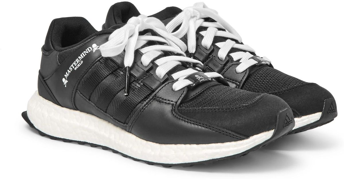 super popular 67f81 2b726 Adidas Originals Black Mastermind World Eqt Support Ultra Leather And Mesh  Sneakers for men